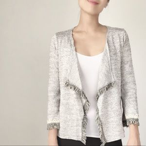 Classic lightweight open front fringes cardigan